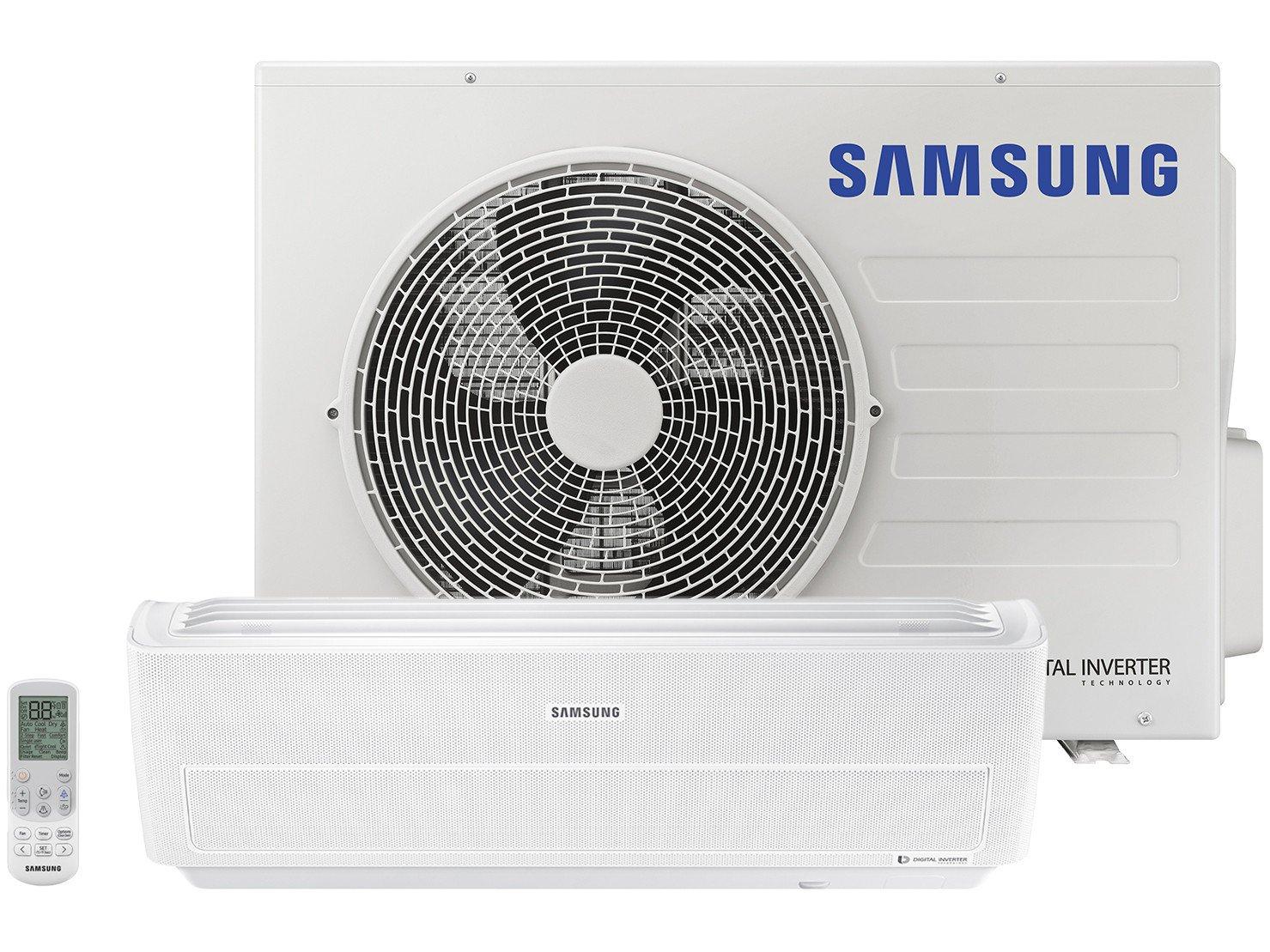 Ar-condicionado Split Samsung Inverter 18.000BTUs - Quente/Frio Wind Free AR18NSPXBWKNAZ - 220 V
