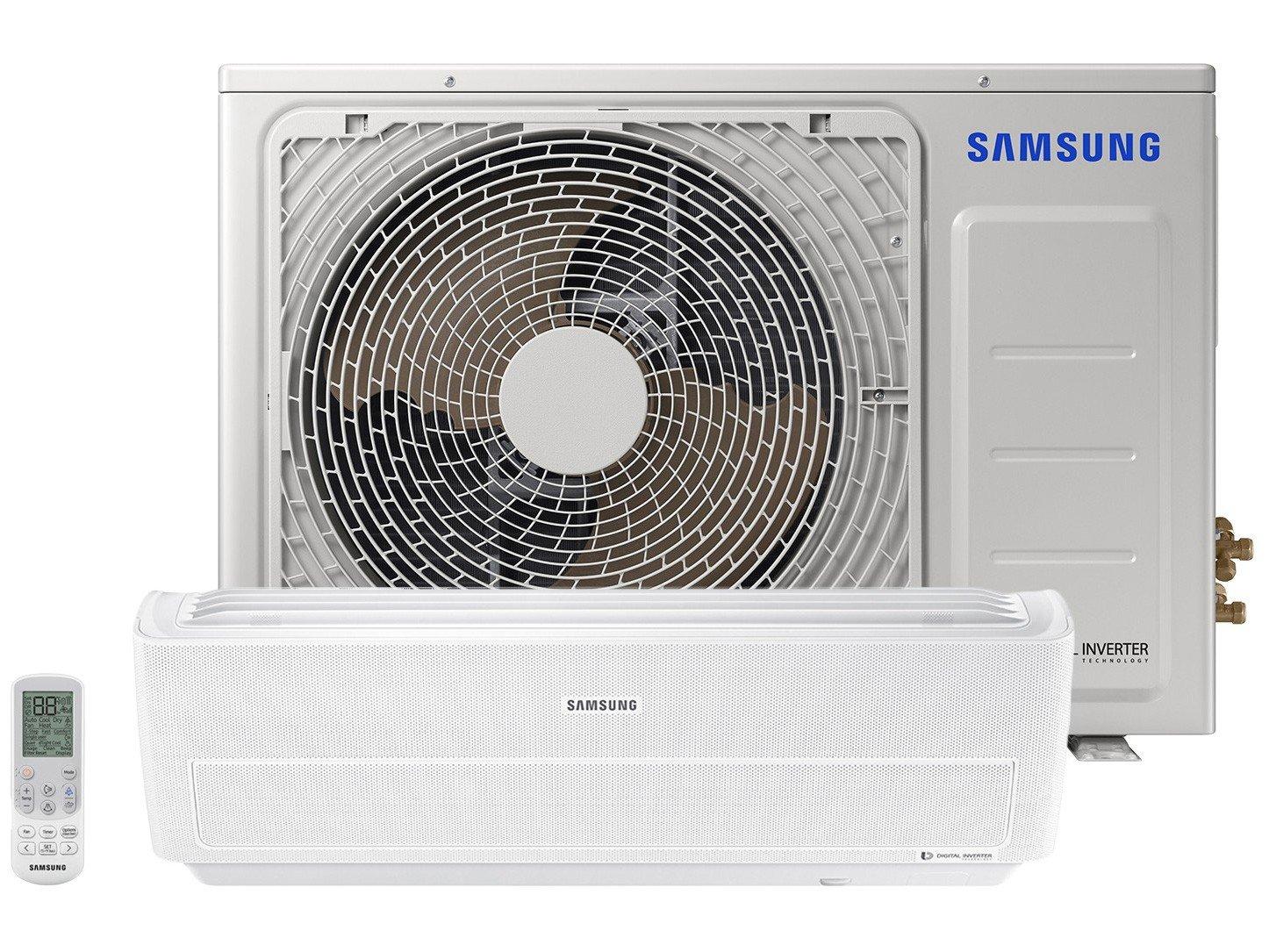 Ar-condicionado Split Samsung Inverter 12.000BTUs - Quente/Frio Wind Free AR12NSPXBWKNAZ - 220 V