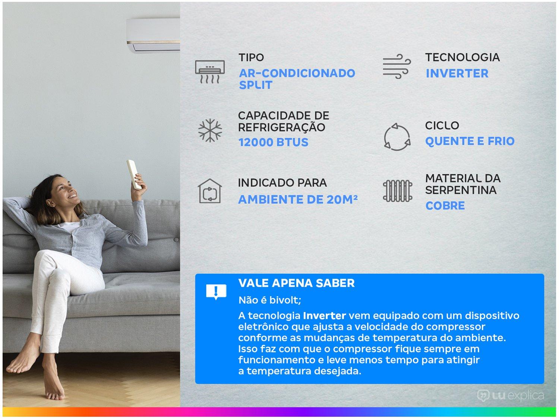 Ar-condicionado Split Samsung Inverter 12.000BTUs - Quente/Frio Wind Free AR12NSPXBWKNAZ - 220 V - 2