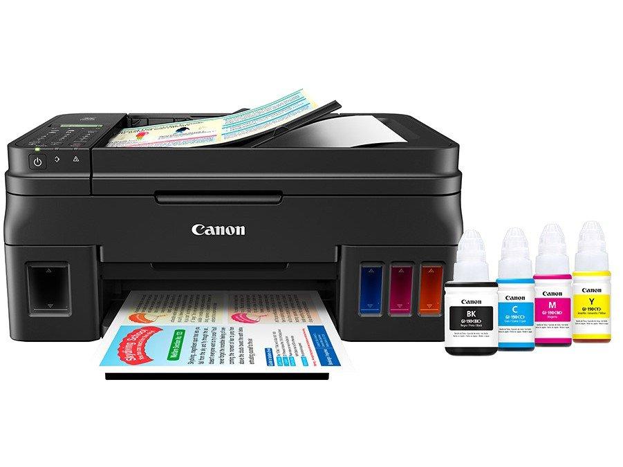 Foto 1 - Impressora Multifuncional Canon G4100 - Tanque de Tinta Colorido Wi-Fi USB