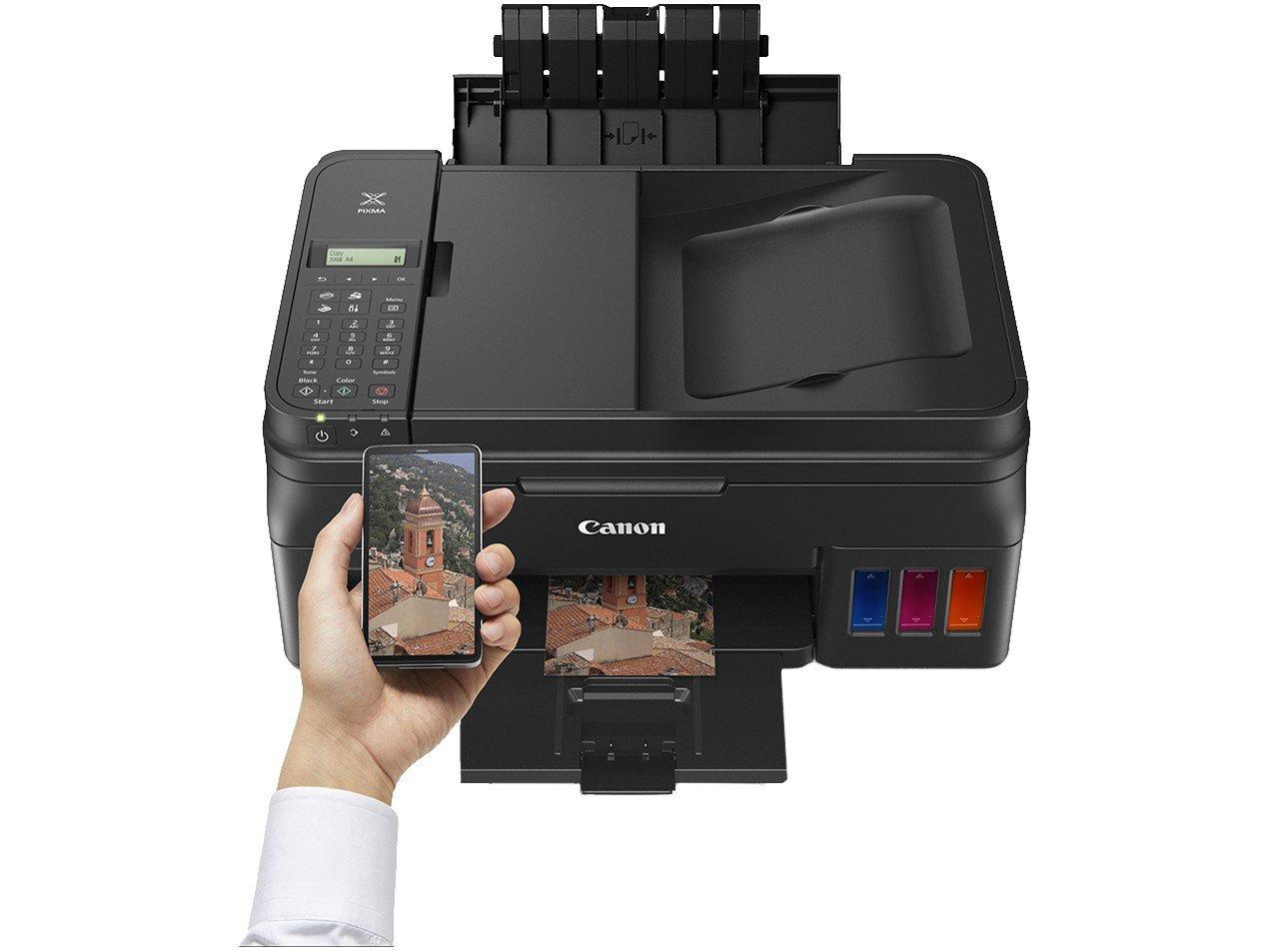 Foto 4 - Impressora Multifuncional Canon G4100 - Tanque de Tinta Colorido Wi-Fi USB