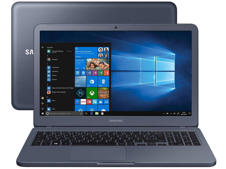 "Notebook Samsung Essentials E20 Intel Dual Core - 4GB 500GB 15,6"" Windows 10 - Bivolt"