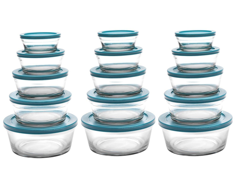 Conjunto de Tigelas de Vidro 15 Peças Casambiente - JGTI023/03