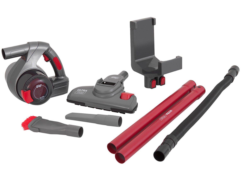 Aspirador de Pó Portátil e Vertical Wap - sem Fio Filtro HEPA 60W Ultra Mob Vermelho e Cinza - Bivolt - 2