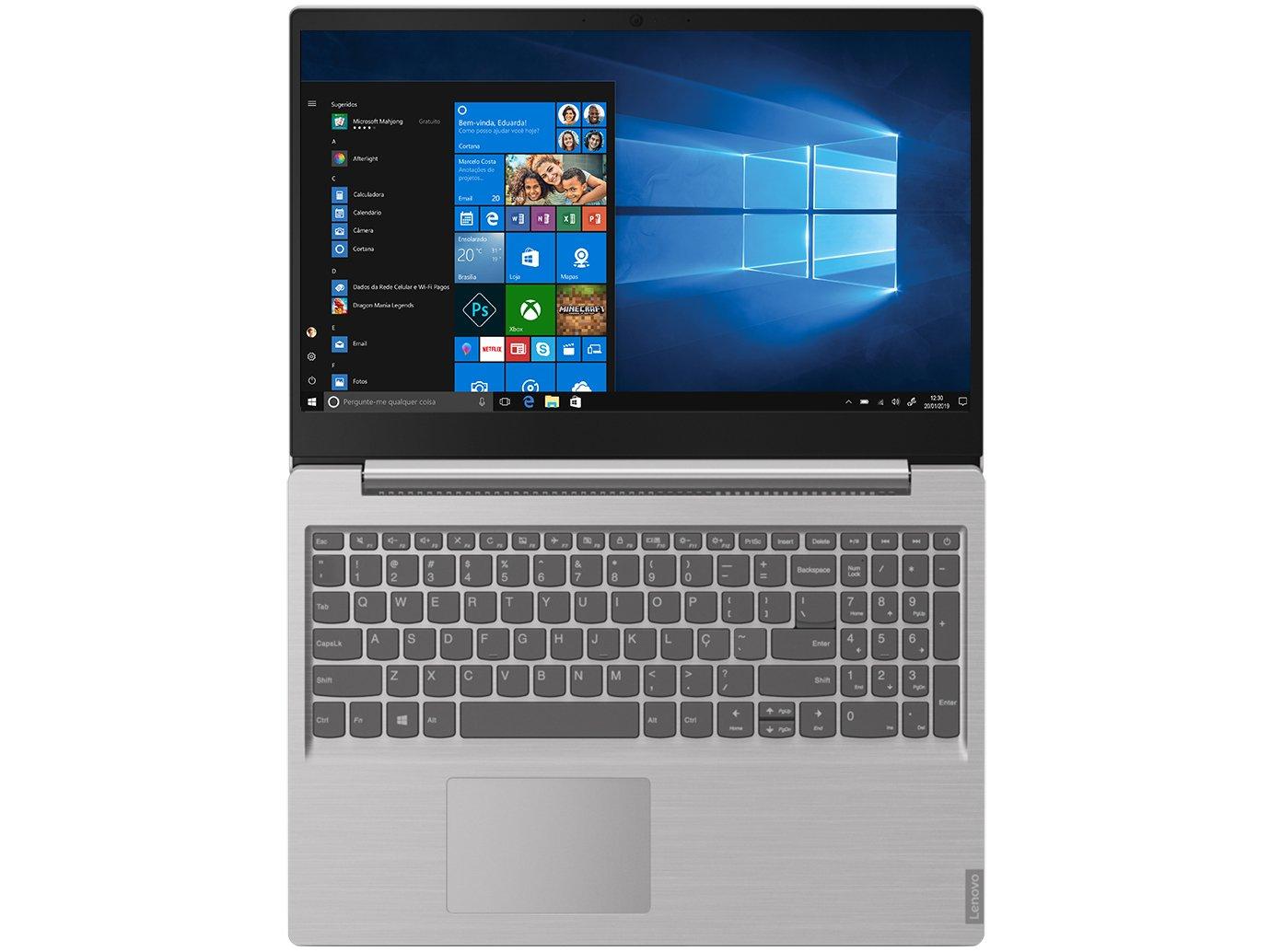 """Notebook Lenovo Core i5-8265U 8GB 1TB Tela 15.6"""" Windows 10 Ideapad S145 - 4"""