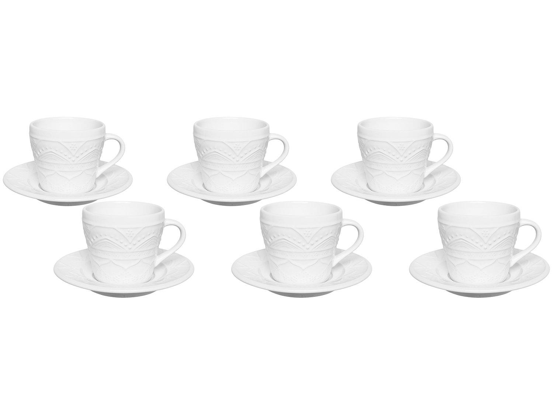 Jogo de Xícaras de Chá 220ml Oxford Daily - Serena White 12 Peças