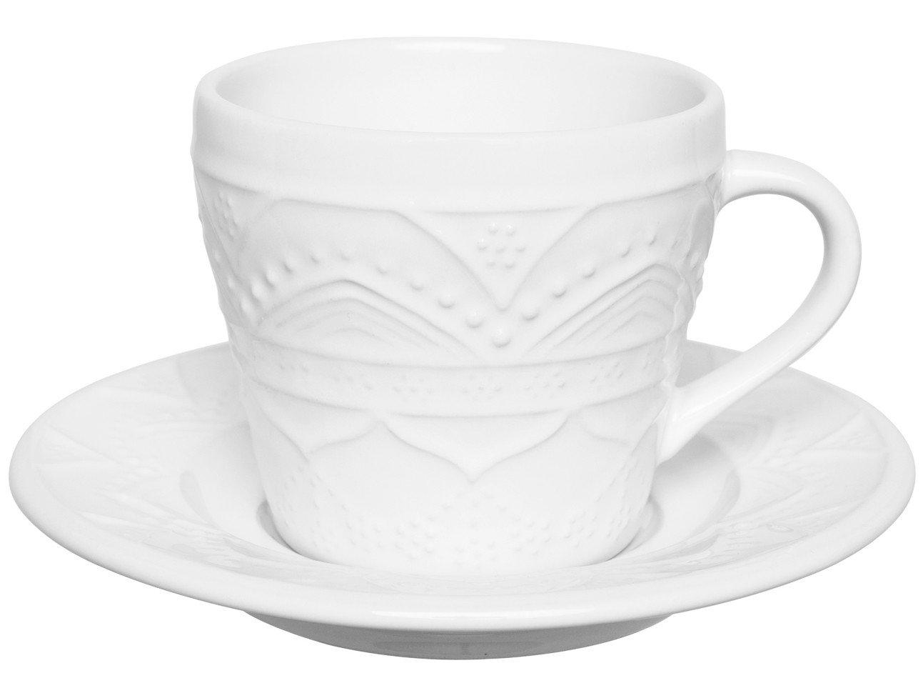 Jogo de Xícaras de Chá 220ml Oxford Daily - Serena White 12 Peças - 1