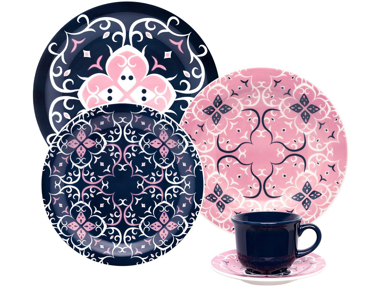 Aparelho de Jantar e Chá 30 Peças Oxford Daily - Cerâmica Redondo Floreal Daily Hana