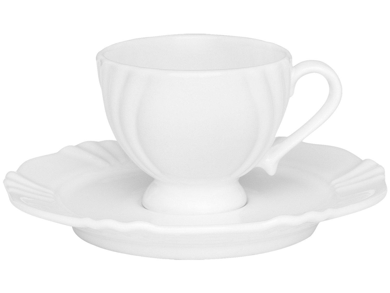 Jogo de Café com Bule e Xícaras de Porcelana - 14 Peças Oxford Soleil - 3