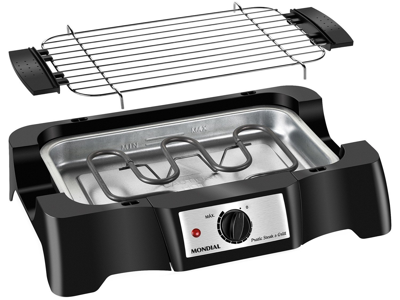 Churrasqueira Elétrica Mondial Pratic Steak & Grill – CH-07 com Controle de Temperatura - 220V - 4