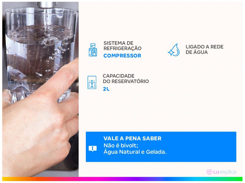 Purificador de Água Colormaq - Refrigerado por Compressor Branco 601.1.001 - 110 V - 1
