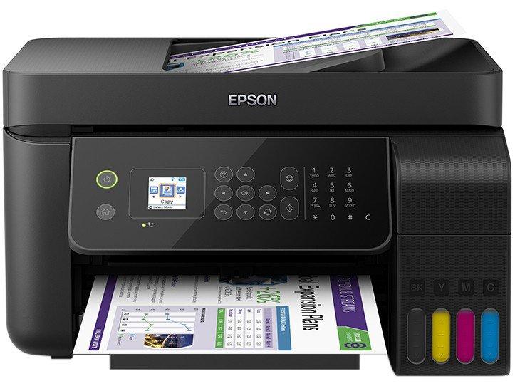 Foto 1 - Impressora Multifuncional Epson EcoTank L5190 - Tanque de Tinta Colorido Wi-Fi USB