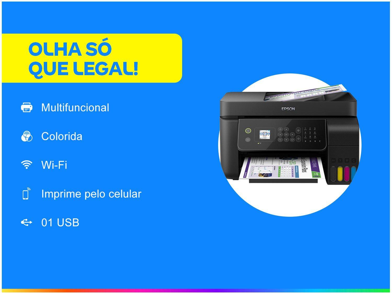 Foto 2 - Impressora Multifuncional Epson EcoTank L5190 - Tanque de Tinta Colorido Wi-Fi USB
