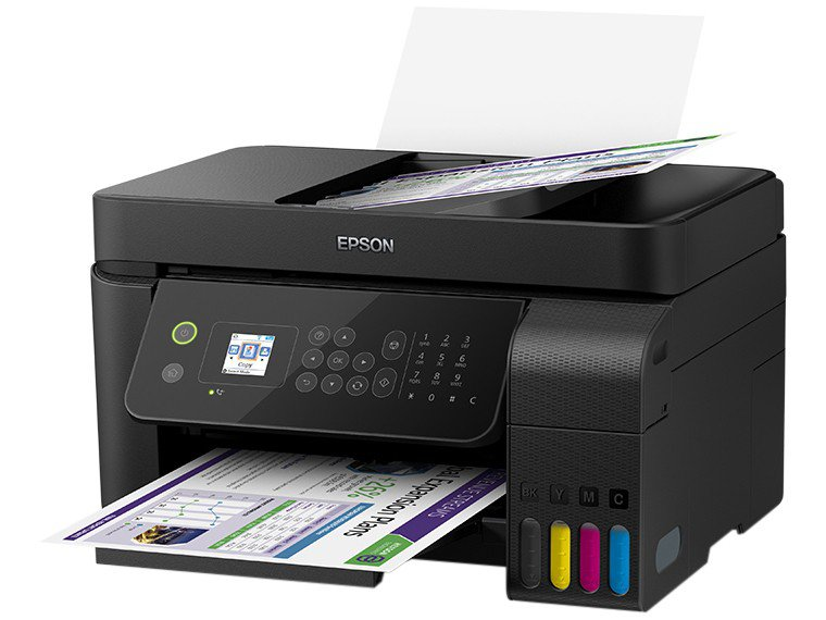 Foto 3 - Impressora Multifuncional Epson EcoTank L5190 - Tanque de Tinta Colorido Wi-Fi USB
