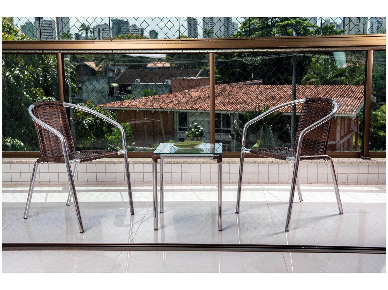 Foto 2 - Conjunto de Mesa para Área Externa Alumínio - 2 Cadeiras Alegro Móveis Angélica