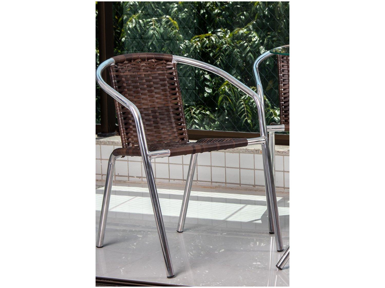 Foto 3 - Conjunto de Mesa para Área Externa Alumínio - 2 Cadeiras Alegro Móveis Angélica