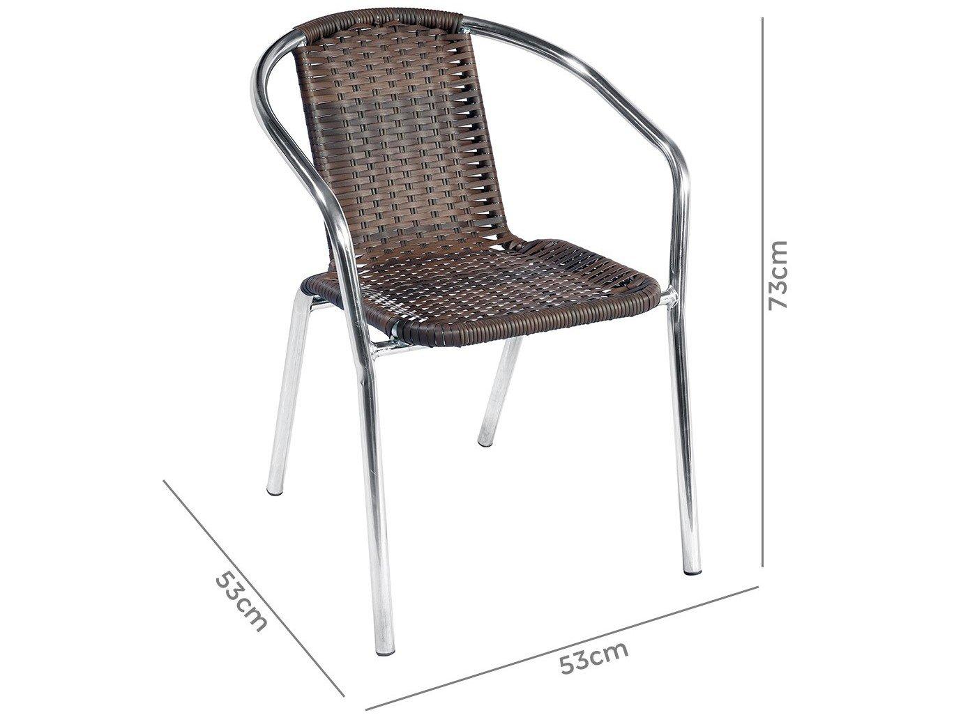 Foto 6 - Conjunto de Mesa para Área Externa Alumínio - 2 Cadeiras Alegro Móveis Angélica
