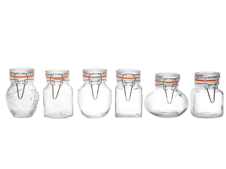 Conjunto de Potes para Condimentos Casa Ambiente 6 Peças – Transparente