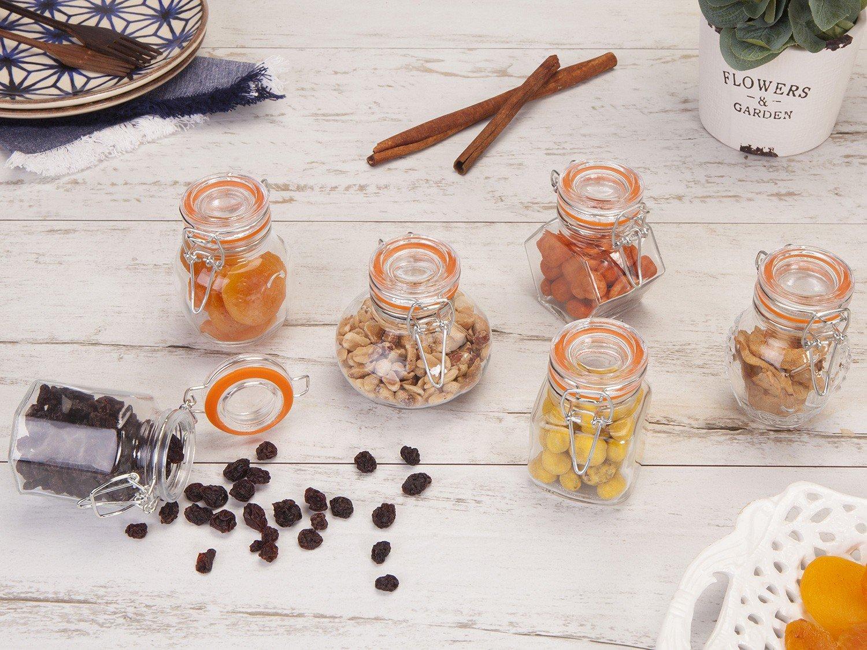 Conjunto de Potes para Condimentos Casa Ambiente 6 Peças – Transparente - 3