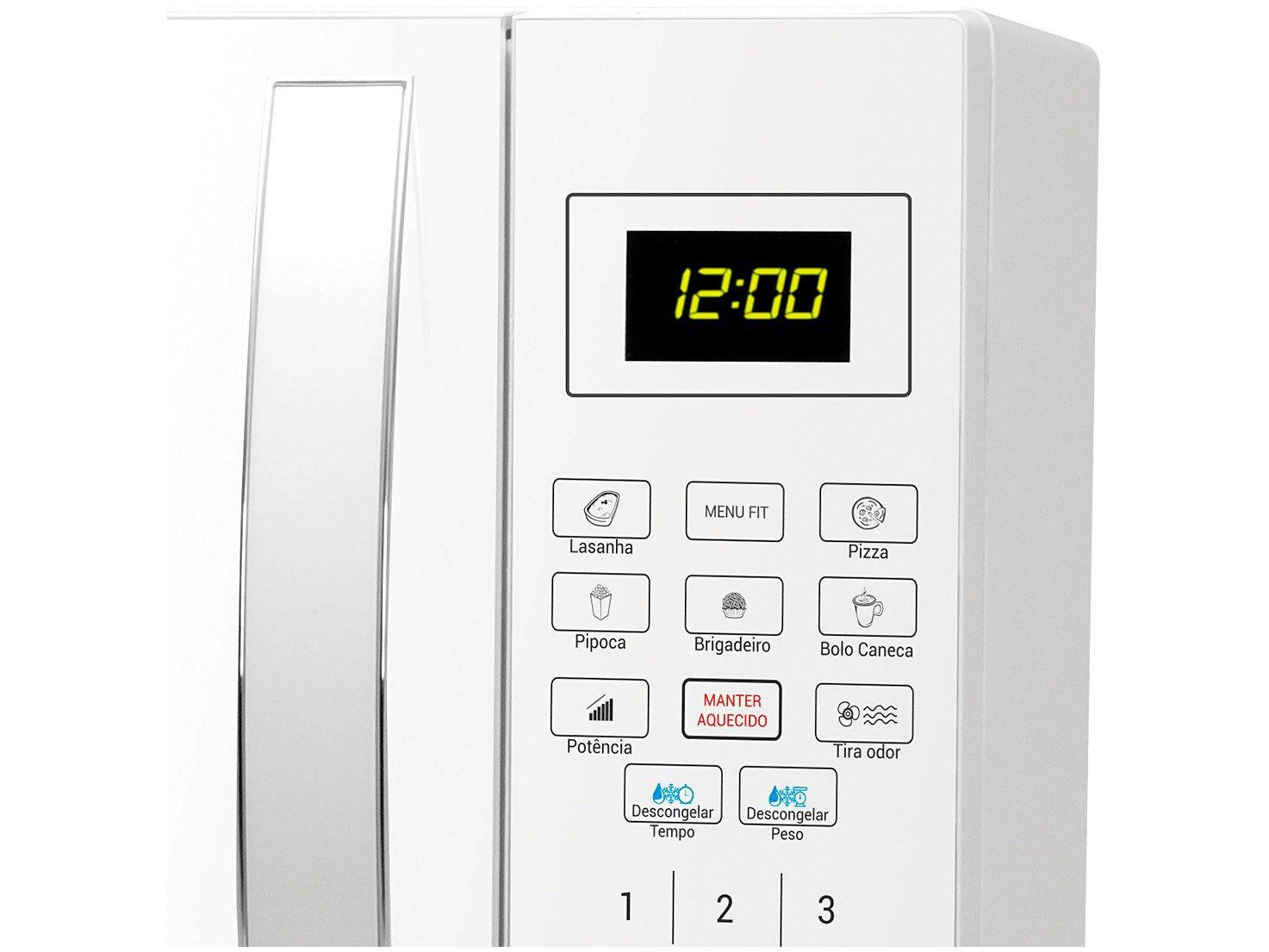 Forno de Micro-ondas Philco PMO26B com Teclas Fáceis Branco - 26L - 110v - 6