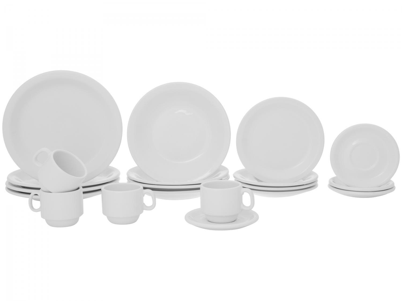 Aparelho de Jantar 20 Peças Porcelarte Cerâmica - Redondo Branco Prime