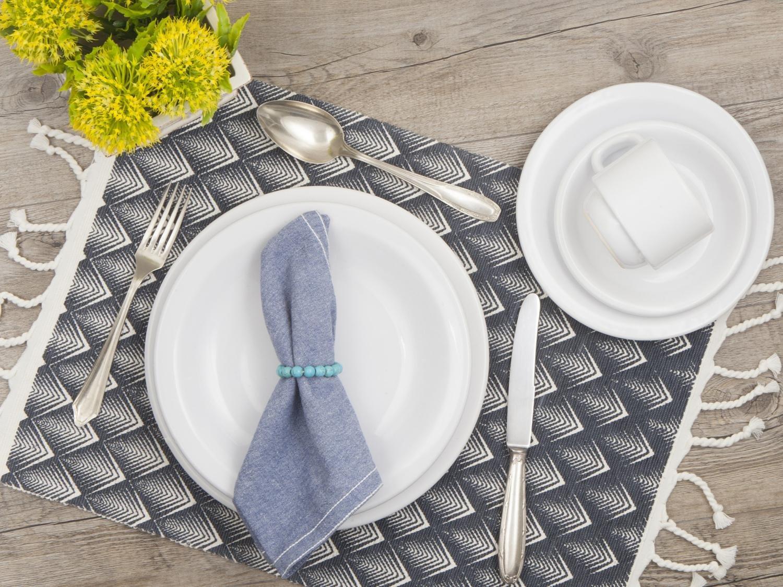 Aparelho de Jantar 20 Peças Porcelarte Cerâmica - Redondo Branco Prime - 1