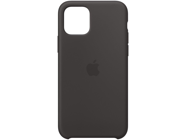 Foto 1 - Capinha de Celular Silicone para iPhone 11 Pro - Apple Preto