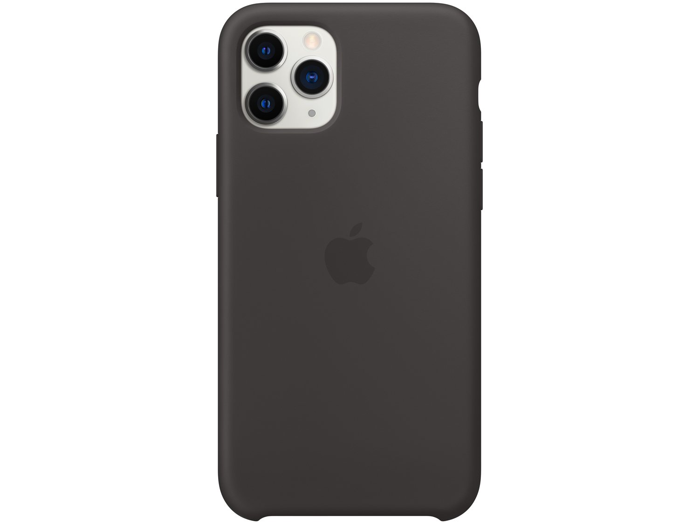Foto 3 - Capinha de Celular Silicone para iPhone 11 Pro - Apple Preto