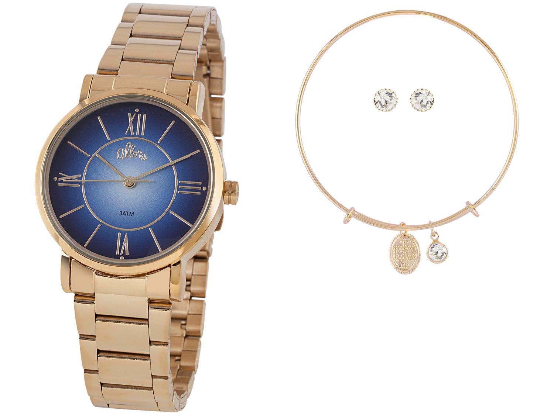 Relógio Feminino Allora Analógico AL2035FOE/K4A - Dourado com Brinco e Pulseira - 2