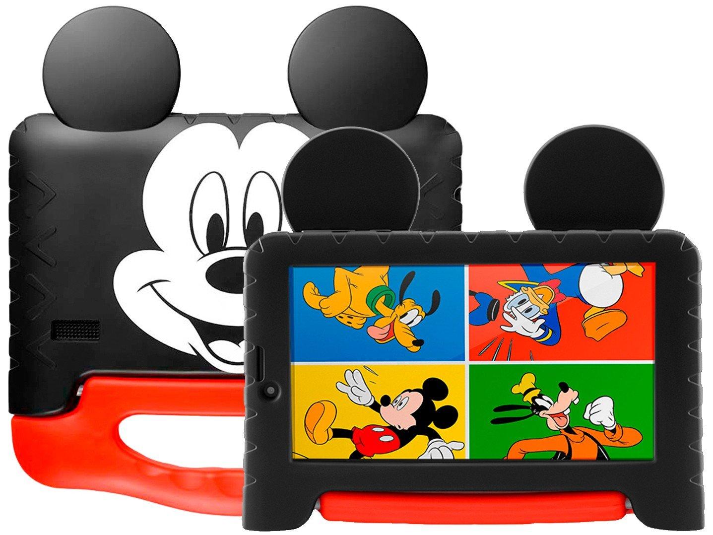 "Tablet Infantil Multilaser Mickey Plus com Capa - 16GB 7"" Wi-Fi Android 8.1 Quad Core Câm. 2MP - Bivolt"