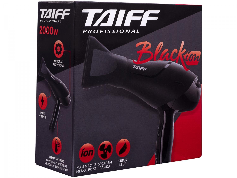 Secador de Cabelos Taiff Black Íon Motor AC Profissional 2000W – Preto/Vermelho - 110V - 6