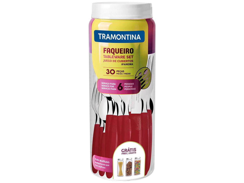Faqueiro Inox Tramontina Ipanema Vermelho 30 Peças - 8