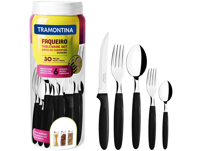 Faqueiro Inox Tramontina Ipanema Preto 30 Peças - 3
