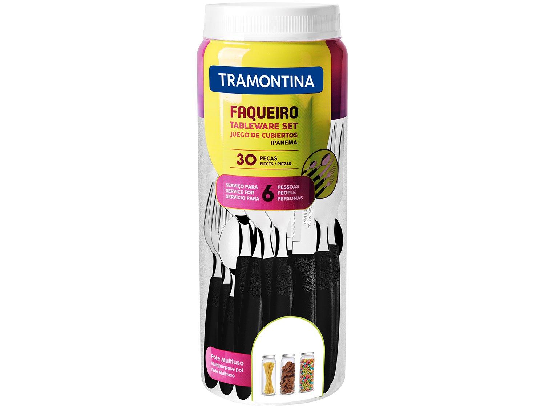 Faqueiro Inox Tramontina Ipanema Preto 30 Peças - 8