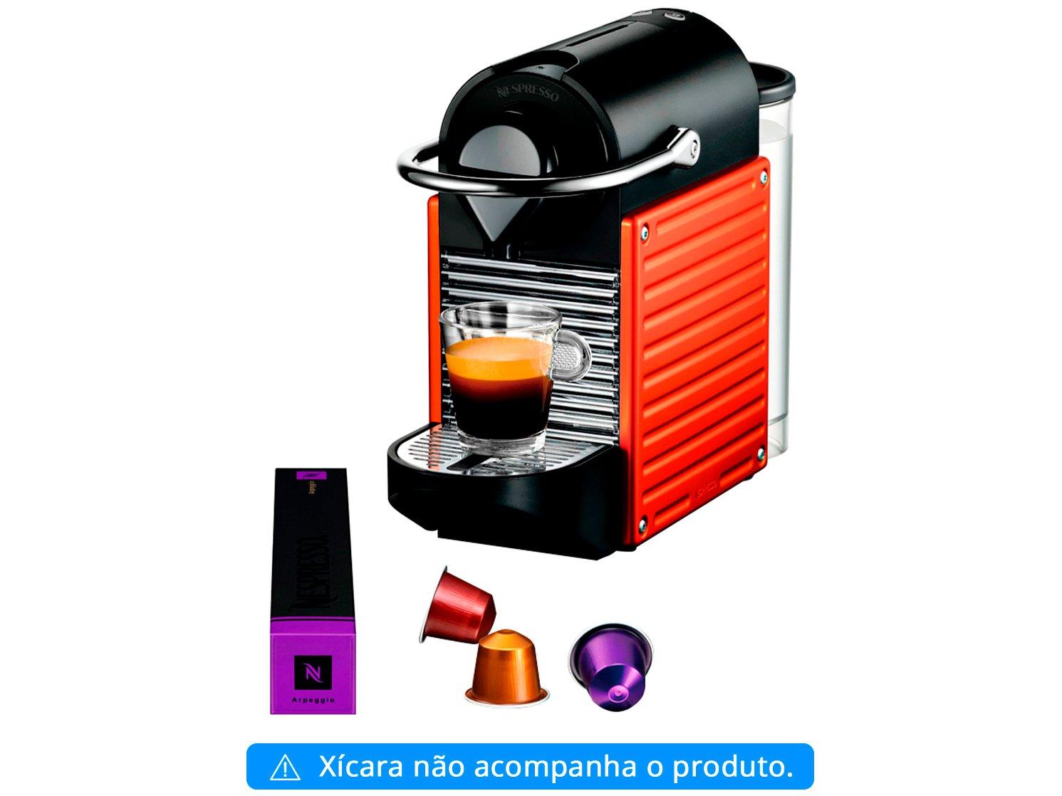 Cafeteira Expresso Pixie Nespresso de Cápsula - Vermelha 19 Bar - 110 V - 3