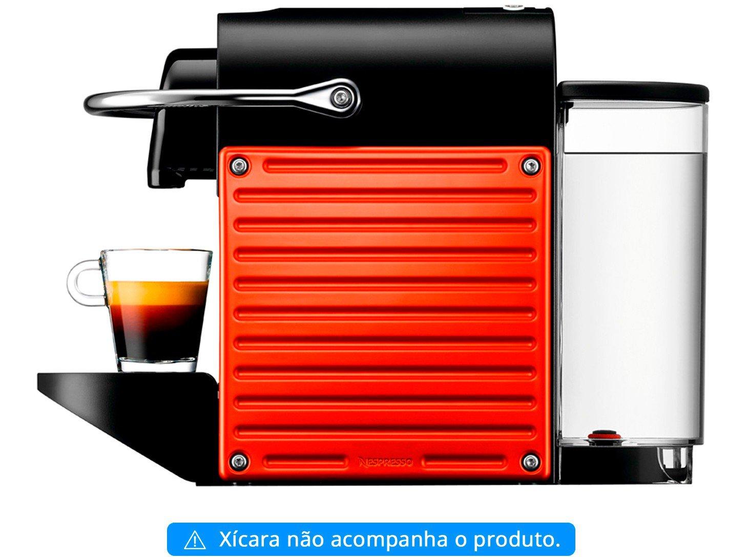 Cafeteira Expresso Pixie Nespresso de Cápsula - Vermelha 19 Bar - 110 V - 4