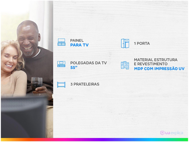 """Painel para TV até 55"""" 3 Prateleiras Colibri - Home Atlântico - 1"""