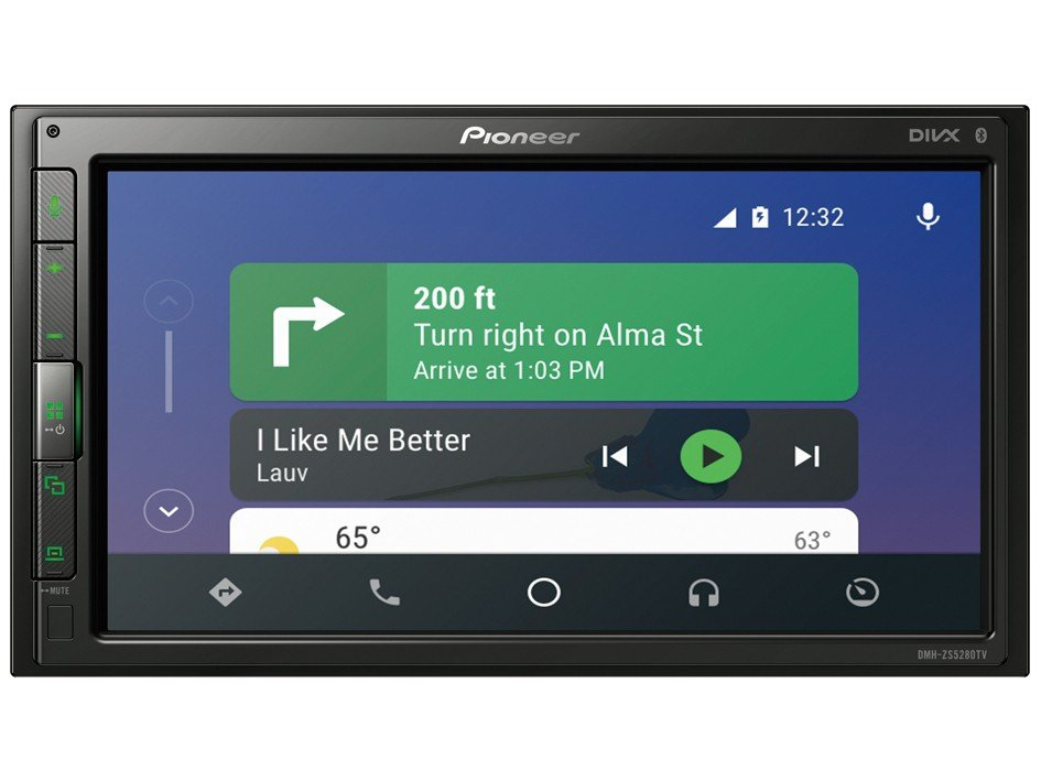 """Central Multimídia Pioneer DMH-ZS5280TV - Bluetooth Touch 6,8"""" USB - 12"""