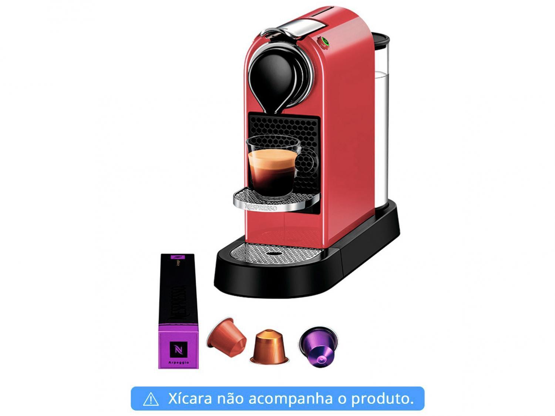 Máquina de Café Nespresso Citiz C113 com Kit Boas Vindas – Vermelha - 110V - 6