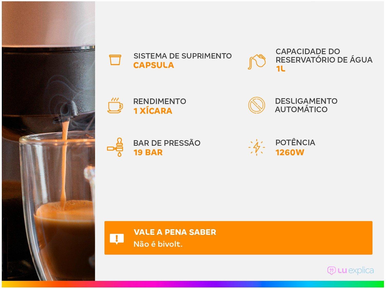 Máquina de Café Nespresso Citiz D113 com Kit Boas Vindas – Preta - 110V - 2