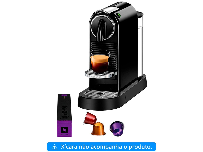 Máquina de Café Nespresso Citiz D113 com Kit Boas Vindas – Preta - 110V - 6