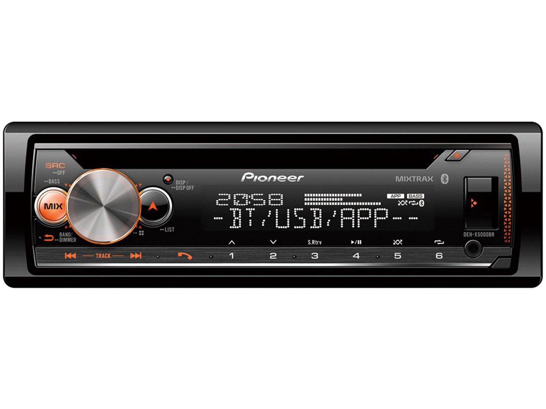 Som Automotivo Pioneer CD Player Bluetooth - USB Auxiliar DEH-X5000BR