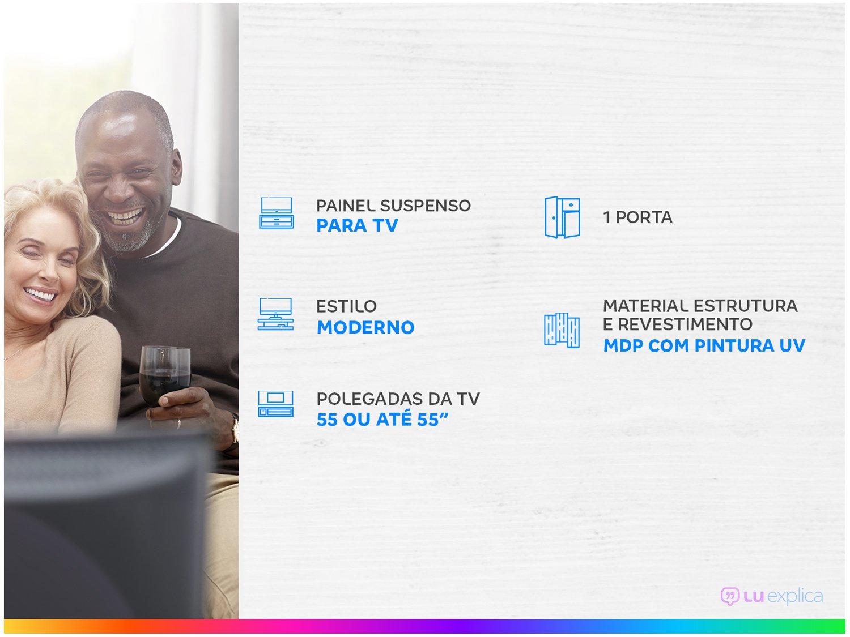 "Painel para TV até 55"" Caemmun - Black 19 - 1"