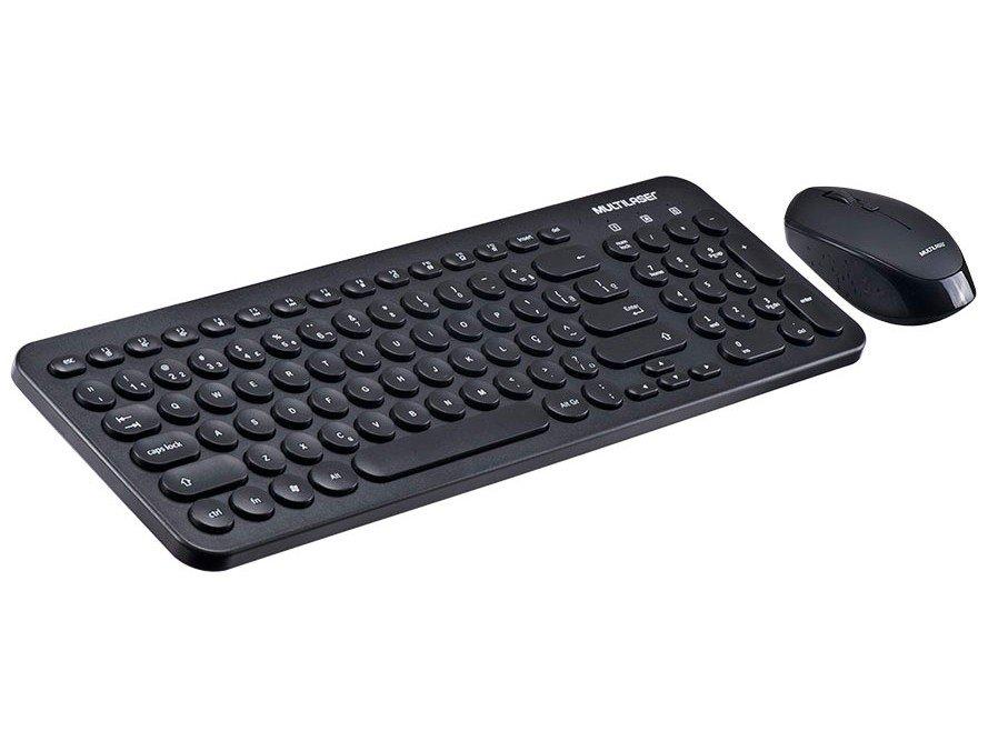 Kit Teclado e Mouse sem Fio Multilaser - TC231 - 2