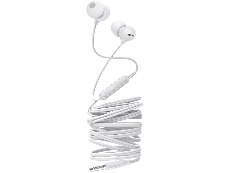 Fone de Ouvido Philips Upbeat SHE2405WT/00 - Intra-auricular com Microfone Branco