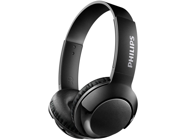 Headphone Bluetooth Philips Bass+ SHL3075WT/00 - com Microfone Preto - Bivolt