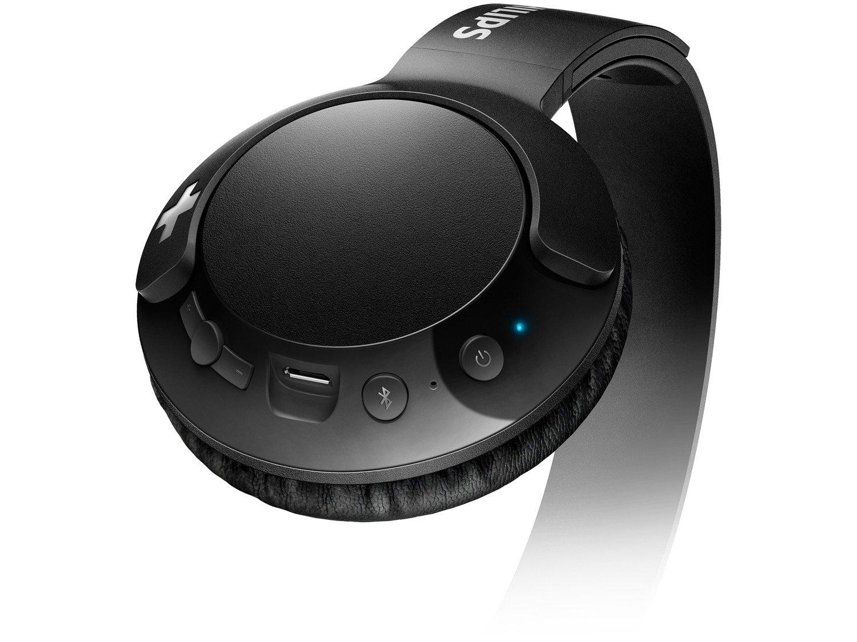 Headphone Bluetooth Philips Bass+ SHL3075WT/00 - com Microfone Preto - Bivolt - 12