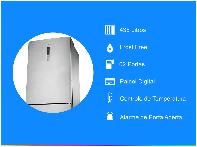 Refrigerador Samsung RL4353RBASL Frost Free Inverse Barosa com Compartimento para Vinho Inox - 435L - 110v - 4