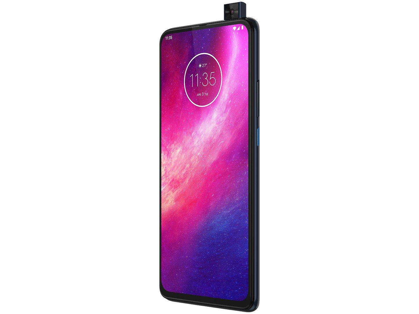 "Smartphone Motorola One Hyper 128GB Azul Oceano - 4G 4GB RAM 6,5"" Câm. Dupla + Câm Selfie 32MP - 16"
