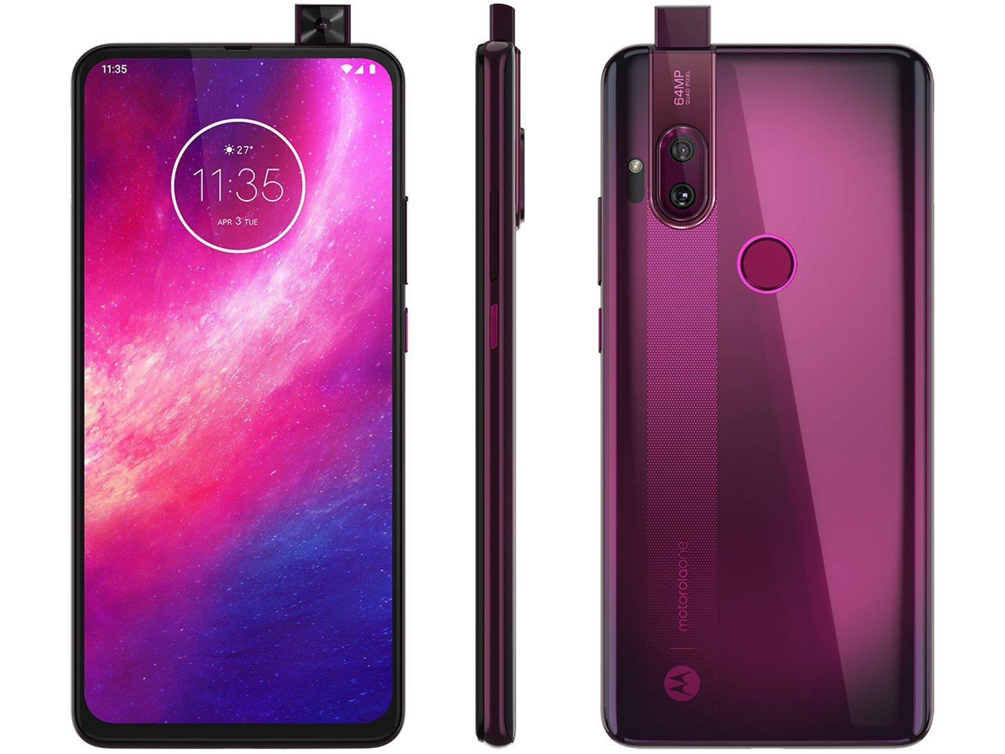 """Smartphone Motorola One Hyper Rosa Boreal 128GB, Tela Total Vision 6.5"""", Câmera Traseira Dupla, Câmera Selfie Pop-Up de 32MP, Processador Qualcomm - 1"""